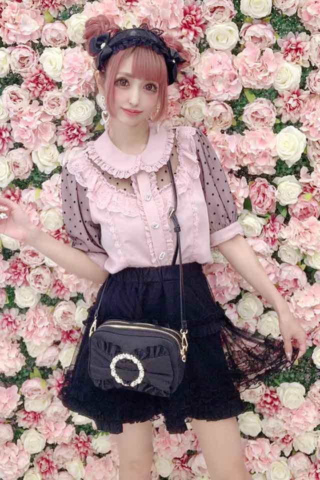 【Princess Melody】♪きらきらリングおりぼんポシェット♪ - ブラック size-F