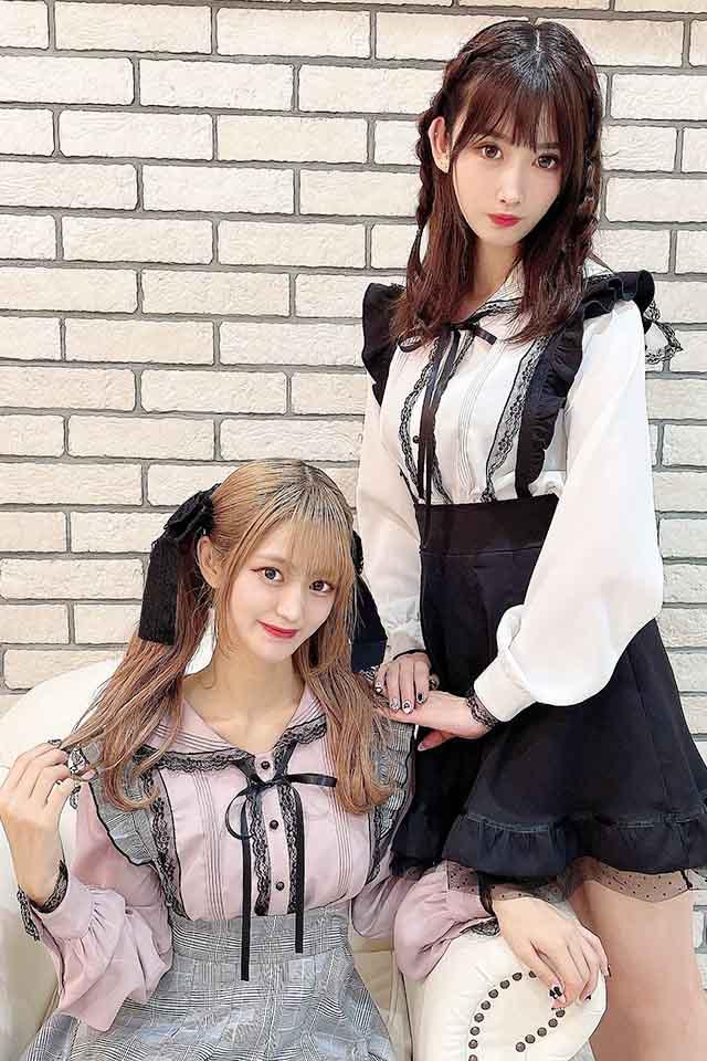 【MA*RS】レースラインセーラーブラウス - ピンク size-F