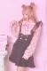 【Princess Melody】♪レースフリル×ハートボタンジャンスカ♪ - ブラック size-F