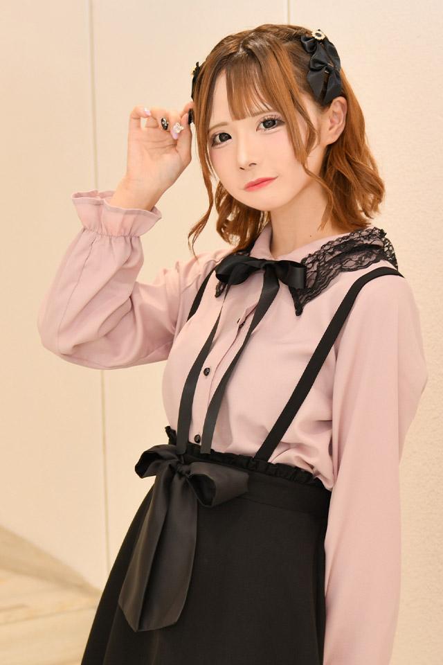 【MA*RS】レース衿キャンディースリーブブラウス  - ピンク size-F