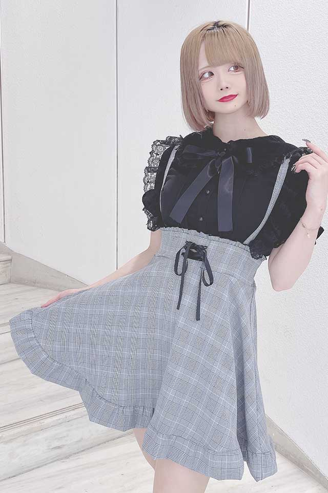 【MA*RS】三角レースブラウス - ブラック size-F
