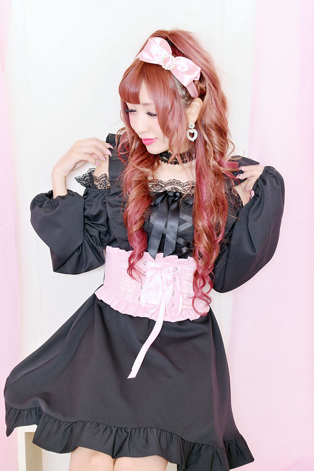 【Princess Melody】♪フリルコルセットベルト♪ -- ピンク size-F