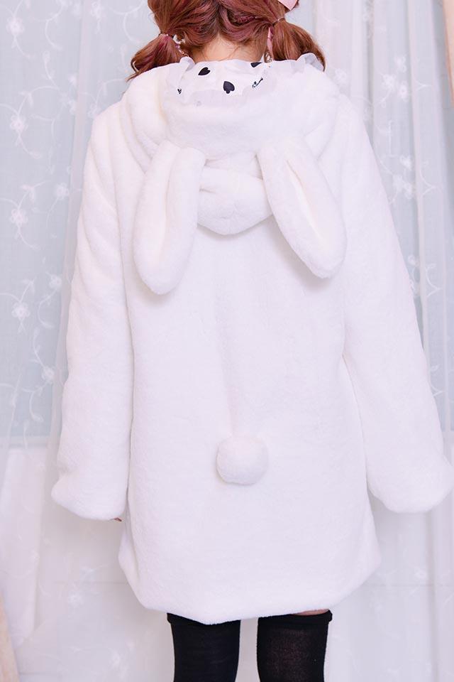 【Princess Melody】♪ふわふわうさたんコート♪ - ホワイト size-F