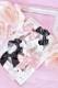 【Princess Melody】♪ぷちおりぼんクリップ 3個SET♪ - ブラック size-F
