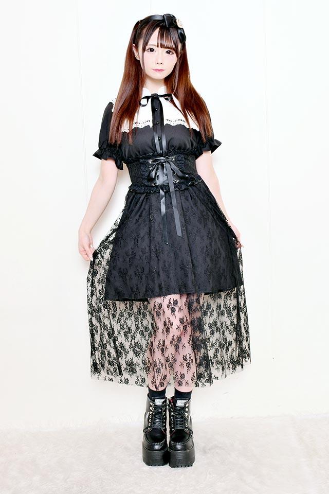 【MA*RS】お嬢様レースマキシワンピ - ブラック size-F