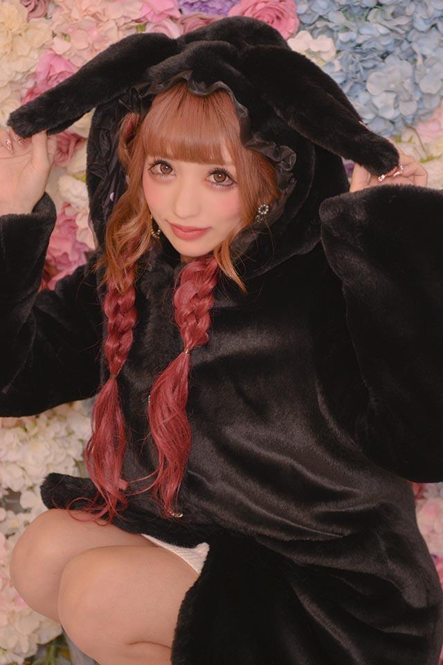【Princess Melody】♪ふわふわうさたんコート♪ - ブラック size-F