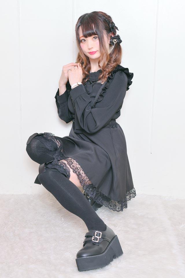 【MA*RS】Wバックル厚底シューズ - ブラック