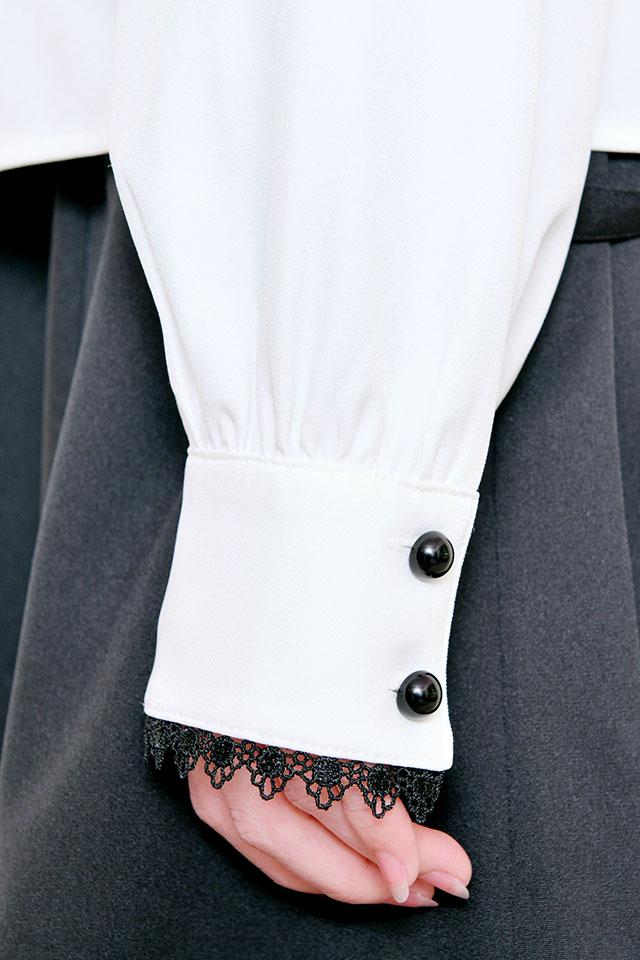 【MA*RS】リボン襟ブラウス - ホワイト size-F