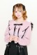 【MA*RS】フリルレースセーラー衿ブラウス - ピンク size-F