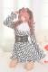 【Princess Melody】♪ラメ千鳥柄ヨークワンピ♪ - ブラック size-F