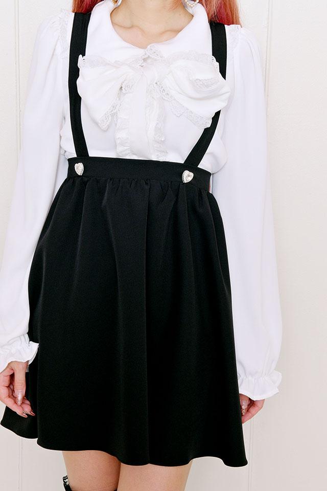 ☆25%OFF☆【Princess Melody】♪エプロン付きフレアジャンスカ♪ - ブラック size-F