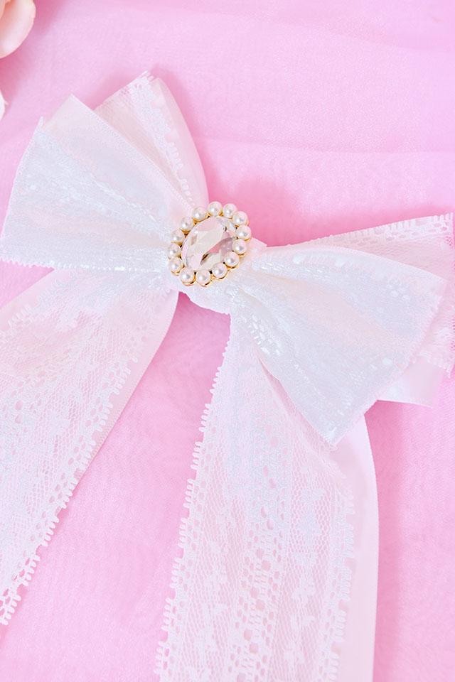 【Princess Melody】レースおりぼんクリップ - ホワイト size-F