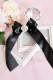 【Princess Melody】♪きらきらハートビジューおりぼんクリップ♪ - ブラック size-F