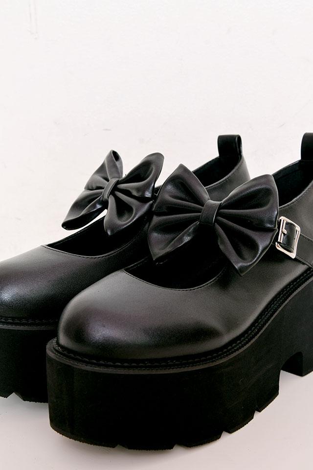 【MA*RS】BIGリボンパンプス - ブラック