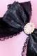 【Princess Melody】レースおりぼんクリップ - ブラック size-F