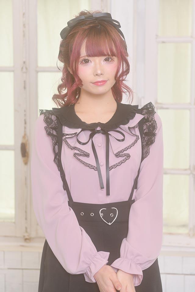 【MA*RS】ラッフルブラウス - ピンク size-F