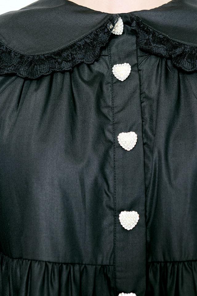 【Princess Melody】♪びっくおりぼん付きティアードワンピ♪ - ブラック size-F