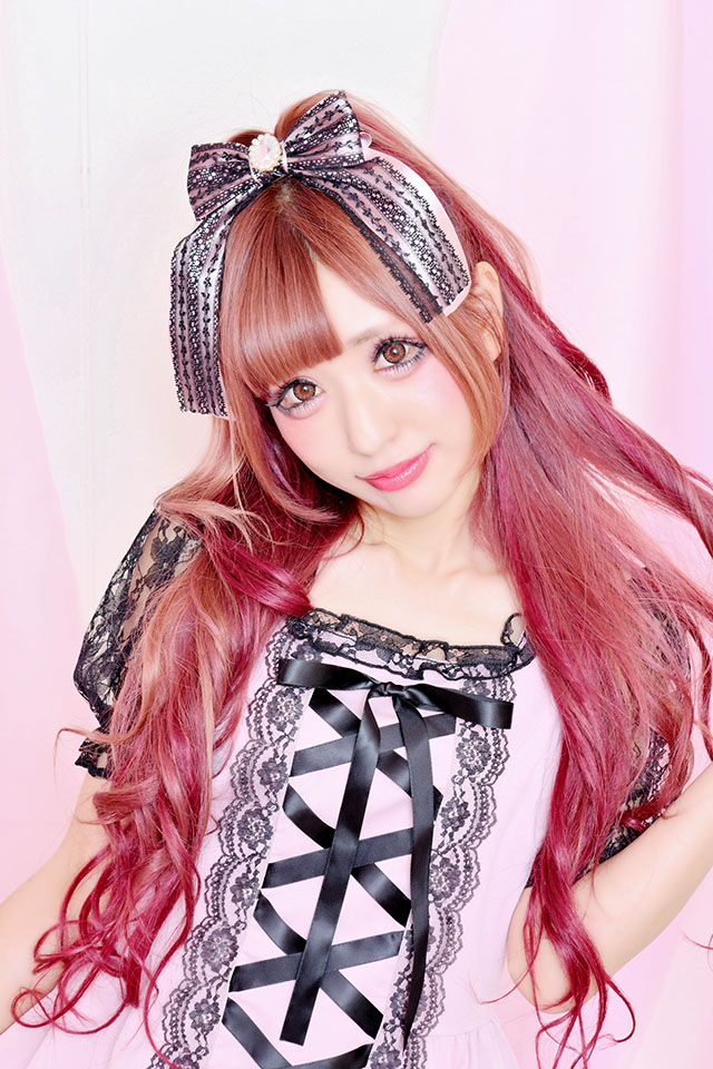 【Princess Melody】レースおりぼんクリップ - ピンク size-F