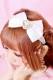 【Princess Melody】♪きらきらハートビジューおりぼんカチューシャ♪ - ホワイト size-F