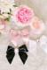 【Princess Melody】♪ビックビジュープリティおりぼんクリップ♪ - ピンク size-F