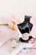 【Princess Melody】♪きらきらハートビジューおりぼんカチューシャ♪ - ブラック size-F