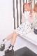 【Princess Melody】♪びっくパール付チュールTOPS(インナー付)♪ - ホワイト size-F