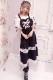 【Princess Melody】♪ハートエプロンロングジャンスカ♪ - BLK/ホワイト size-F