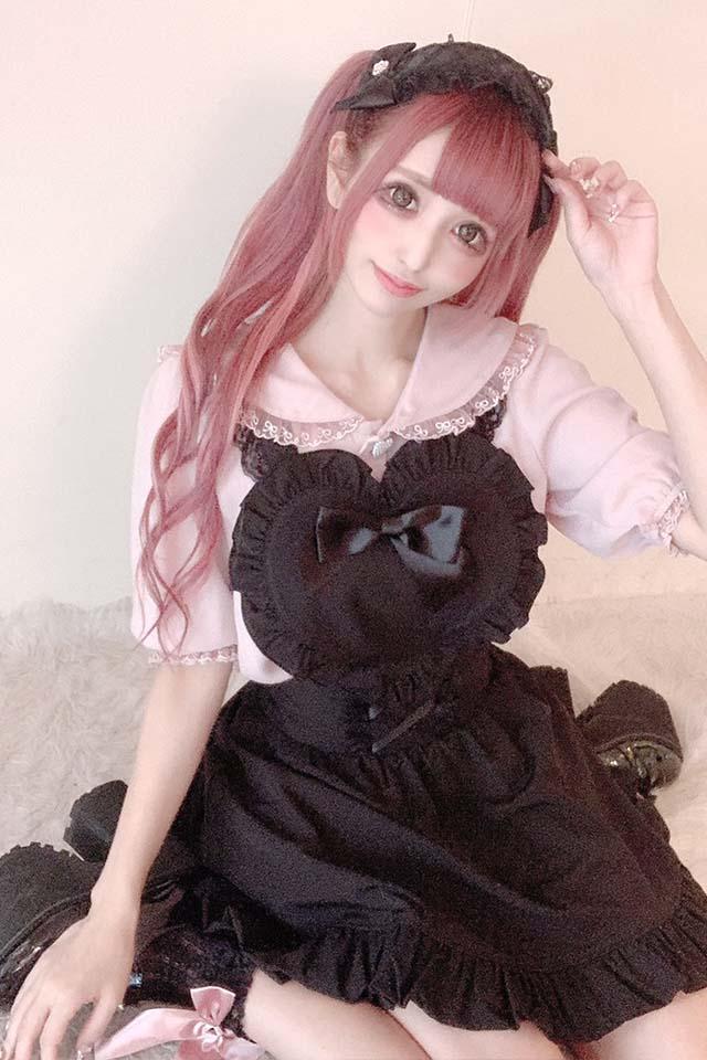 【Princess Melody】♪ハートエプロンコルセットスカパン♪ - ブラック size-F