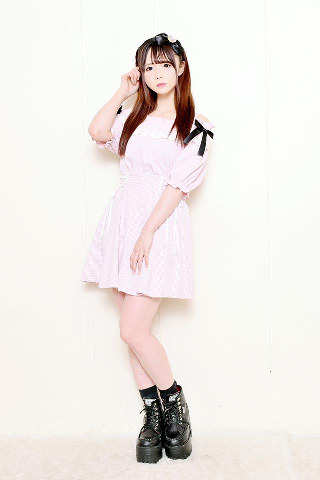 【MA*RS】ギンガムチェックフレアジャンスカ - ピンク size-F