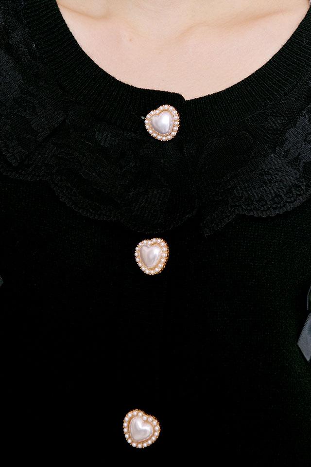 【Princess Melody】♪めぇにめぇにおりぼんカーデ♪ - ブラック size-F