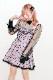 【Princess Melody】♪びっくパール付チュールTOPS(インナー付)♪ - ブラック size-F