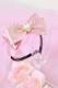 【Princess Melody】♪パールハートサイドフリルおりぼんカチューシャ♪ - ピンク size-F