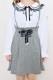 【MA*RS】ハイウエストレースアップスカート - グレー size-F