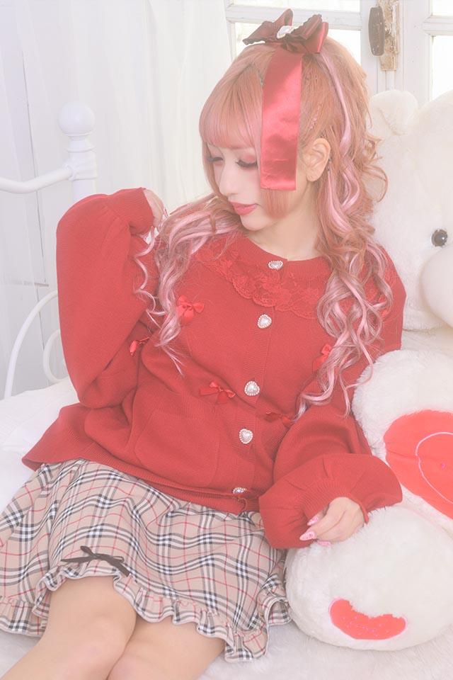 【Princess Melody】♪めぇにめぇにおりぼんカーデ♪ - レッド size-F