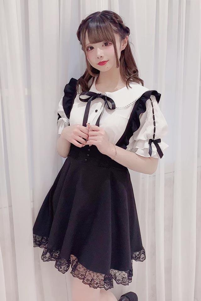 【MA*RS】袖はしごレースブラウス - ホワイト size-F