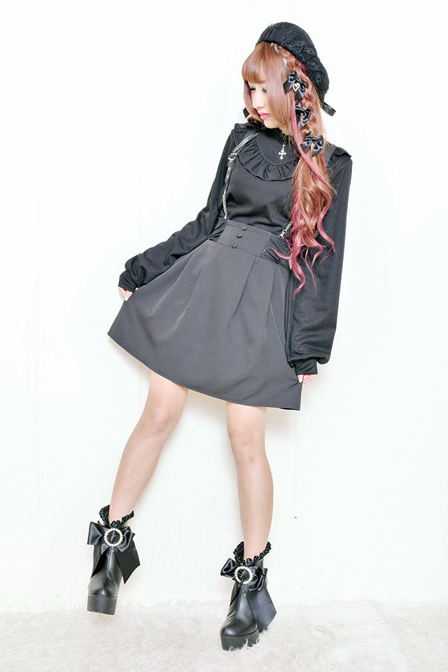 【MA*RS】チェーン付きフレアジャンスカ - ブラック size-F