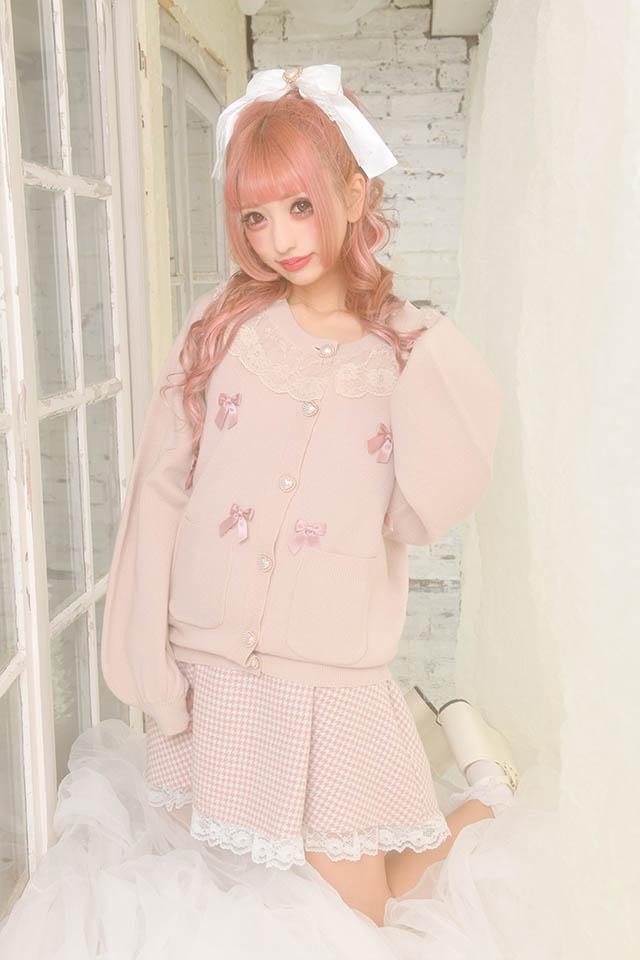 【Princess Melody】♪めぇにめぇにおりぼんカーデ♪ - ピンク size-F