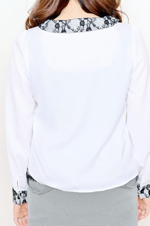 【MA*RS】レースクレリックブラウス - ホワイト size-F
