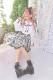 【Princess Melody】♪ラメ千鳥柄おりぼんフレアジャンスカ♪ - ブラック size-F