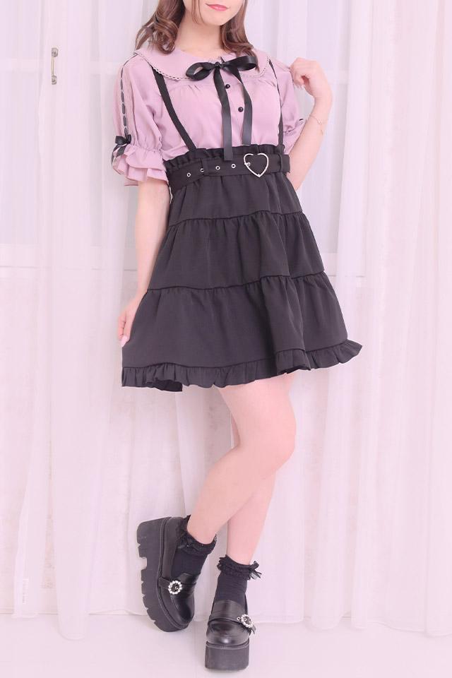 【MA*RS】袖はしごレースブラウス - ピンク size-F
