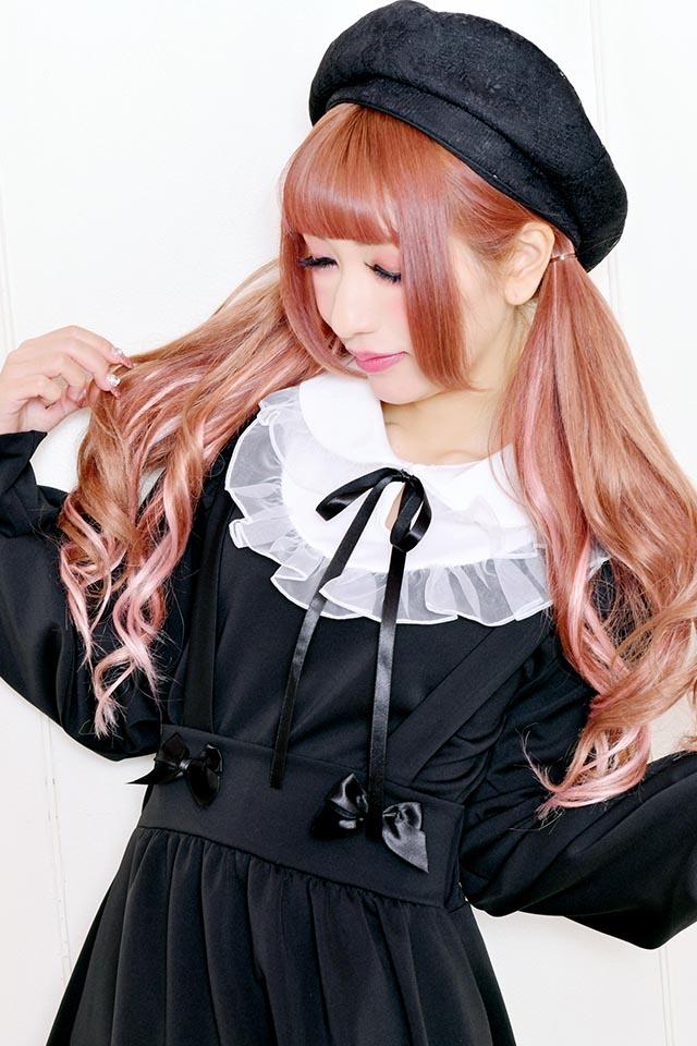 【MA*RS】丸衿ダブルオーガンジーフリルTOPS - ホワイト size-F