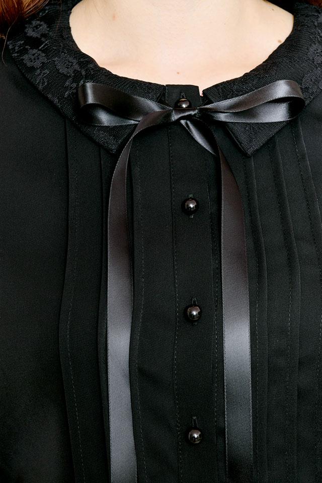 【MA*RS】レースクレリックブラウス - ブラック size-F