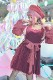【Princess Melody】♪ベロアプリンセスワンピース♪ - ワインレッド size-F
