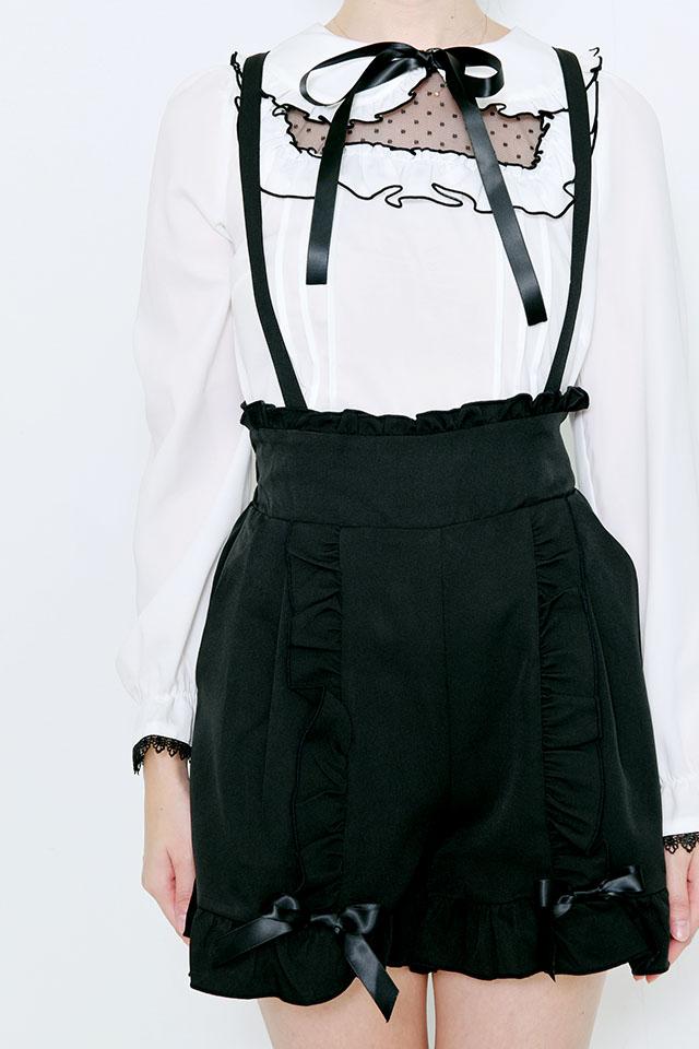 【MA*RS】フリルリボンショートパンツ - ブラック size-F