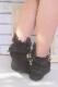 【Princess Melody】ビジューリングおりぼん付(取り外し可)ソックス - ブラック size-F