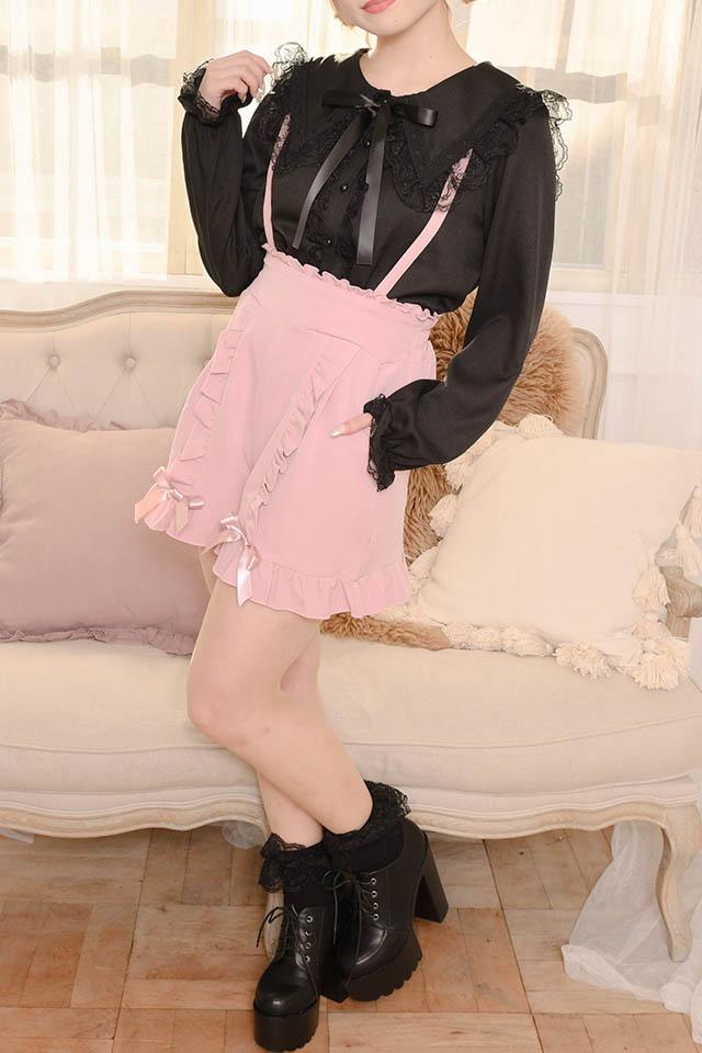 【MA*RS】フリルリボンショートパンツ - ピンク size-F