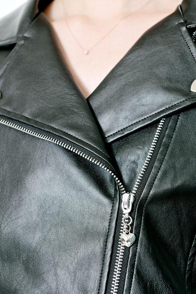【MA*RS】ハートバックルライダース - ブラック size-F
