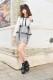 【MA*RS】ペプラムタイトスカート - BLK/ホワイト size-F