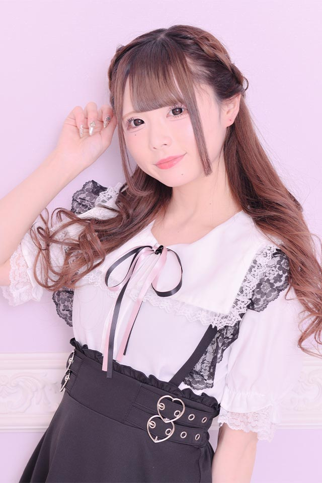 【MA*RS】セーラーカラーレースフリルブラウス(2色リボン付き) - ホワイト size-F