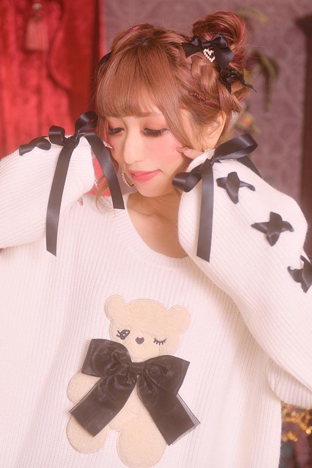 ☆56%OFF☆【Princess Melody】♪ウインクくまちゃんニット♪ - ホワイト size-F